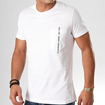 Diesel - Tee Shirt Poche Rubin J1 00SASJ-0AAXJ Blanc