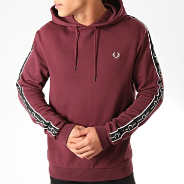 Sweat Capuche Taped Sleeve J7528 Bordeaux