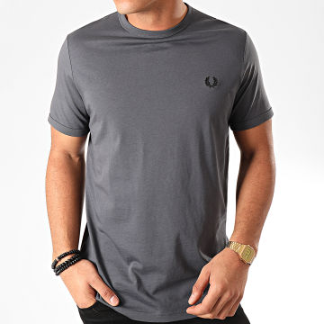 Fred Perry - Tee Shirt Ringer M3519 Gris Anthracite