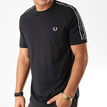 Fred Perry - Tee Shirt A Bandes Taped Shoulder M7513 Noir