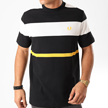 Fred Perry - Tee Shirt Bold Striped M7603 Noir Blanc