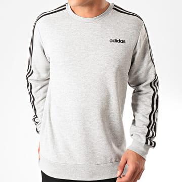 adidas - Sweat Crewneck A Bandes Essential 3 Stripes DU0486 Gris Chiné