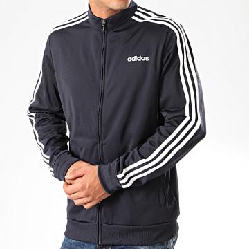 Adidas Originals - Veste Zippée A Bandes Essential DU0445 Bleu Marine Blanc
