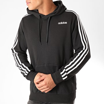 Sweat Capuche A Bandes Essential 3 Stripes DU0498 Noir
