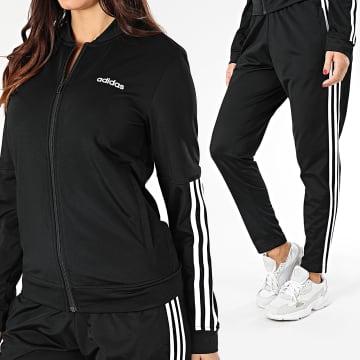 adidas - Ensemble De Survêtement Femme A Bandes WTS Back 2 Basics DV2428 Noir Blanc