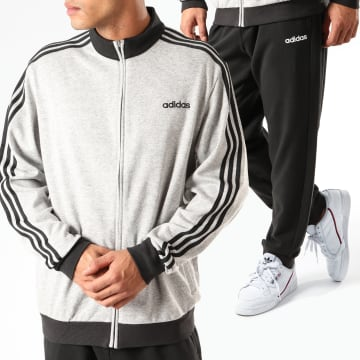 Adidas Originals - Ensemble De Survêtement A Bandes MTS Co Relax DV2444 Gris Chiné Noir