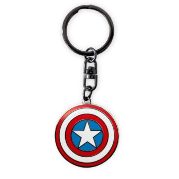 Captain America - Porte Clé 3D ABYKEY201 Bleu Blanc Rouge