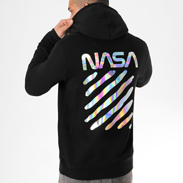NASA - Sweat Capuche Skid Iridescent Noir