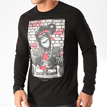 Paname Brothers - Tee Shirt Manches Longues Meddy Noir