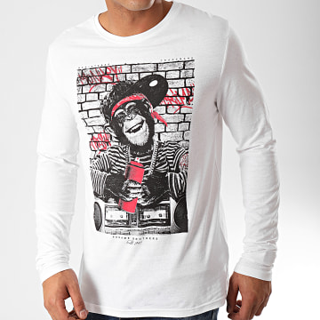 Paname Brothers - Tee Shirt Manches Longues Meddy Blanc
