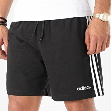 Short Jogging A Bandes Essential 3 Stripes DU0491 Noir