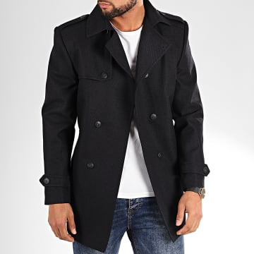 Black Needle - Manteau Trench Coat 7002 Bleu Marine