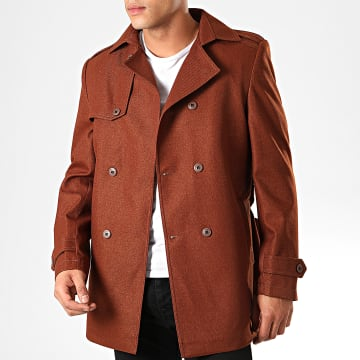 Black Needle - Manteau Trench Coat 7002 Marron