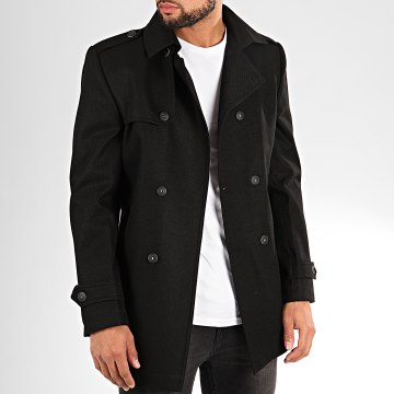 Black Needle - Manteau Trench Coat 7002 Noir