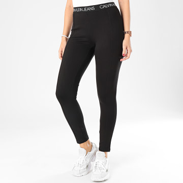 Calvin Klein - Legging Femme Logo Elastic Milano 3076 Noir