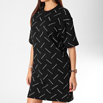 Robe Tee Shirt Femme Diagonal Logo 3275 Noir