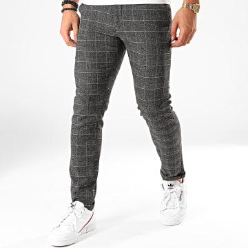 Classic Series - Pantalon A Carreaux X-641 Noir Gris