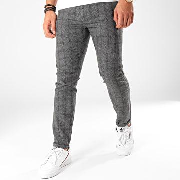 Classic Series - Pantalon A Carreaux X-634 Noir Blanc