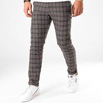 Classic Series - Pantalon Carreaux X-663 Marron Foncé