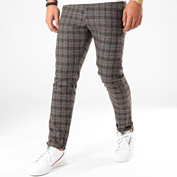 Classic Series - Pantalon A Carreaux X-663 Marron Foncé