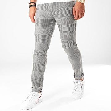 Classic Series - Pantalon A Carreaux M-3200 Blanc Noir