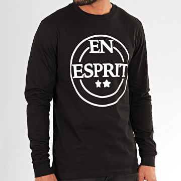Tee Shirt Manches Longues En Esprit 2020 Noir