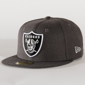 Casquette 59Fifty Heather Essential 12134983 Oakland Raiders Gris Anthracite Chiné