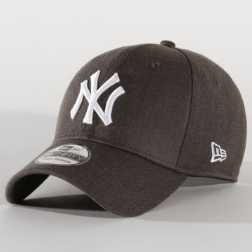 Casquette Fitted 39Thirty Heather Estl 12134988 New York Yankees Gris Anthracite Chiné