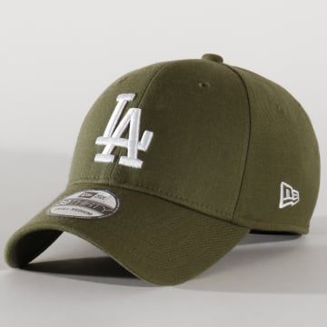 Casquette Fitted 39Thirty Heather Essential 12134990 Los Angeles Dodgers Vert Kaki