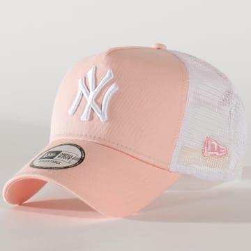 Casquette Trucker League Essential 11586123 New York Yankees Blanc Rose