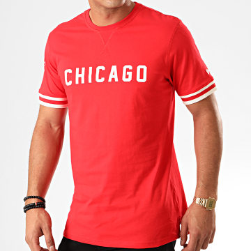 Tee Shirt NBA Wordmark Chicago Bulls 12123884 Rouge Blanc