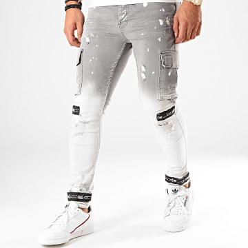 Pantalon Cargo 2856 Gris Blanc Dégradé