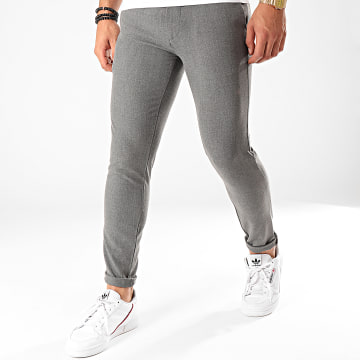 Pantalon Chino A18Y2211 Gris Anthracite Chiné