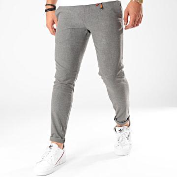 GRJ Denim - Pantalon Chino A19Y2236 Gris Chiné