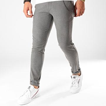 GRJ Denim - Pantalon Chino A18Y2200 Gris Chiné