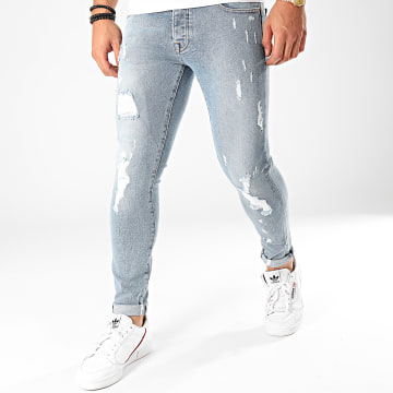 GRJ Denim - Jean Slim Ciro Bleu Wash