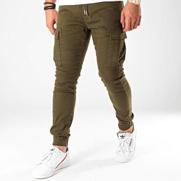 Pantalon Cargo 14081 Vert Kaki