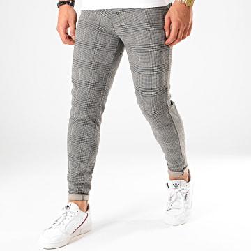 Pantalon A Carreaux 1660 Noir Blanc