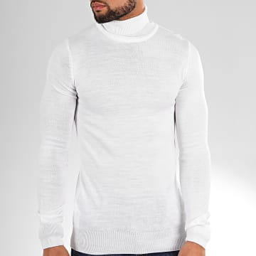 Pull Col Roulé AAP001 Blanc