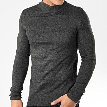 Aarhon - Pull AAP002 Gris Anthracite Chiné