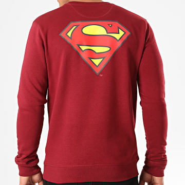 DC Comics - Sweat Crewneck Original Logo Back Bordeaux