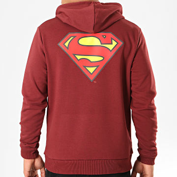 DC Comics - Sweat Capuche Original Logo Back Bordeaux