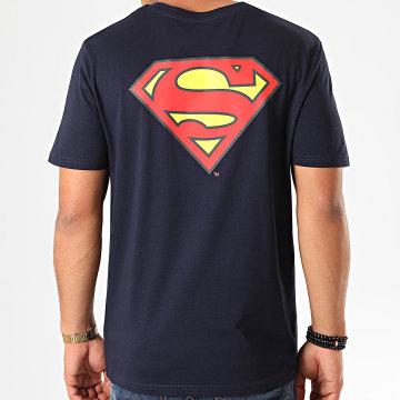 DC Comics - Tee Shirt Original Logo Back Bleu Marine