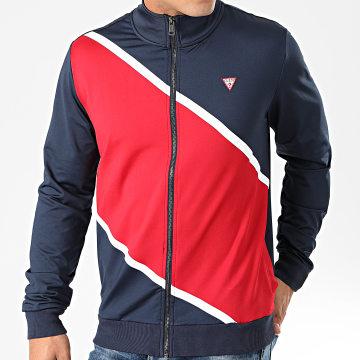 Veste Zippée Tricolore U01Q02-RJQ30 Bleu Marine Rouge Blanc