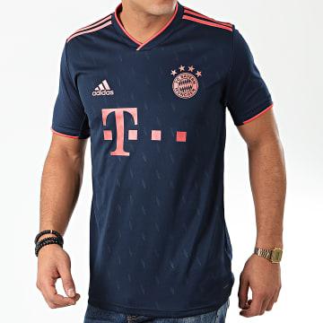 Maillot De Foot A Bandes FC Bayern 3 DW7411 Bleu Marine