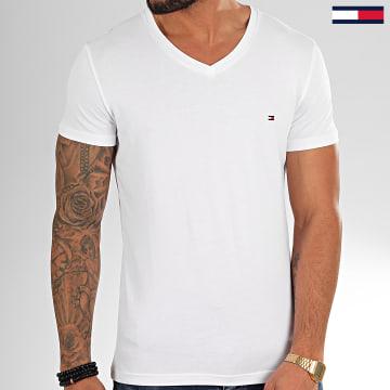 Tommy Hilfiger - Tee Shirt Col V Core Stretch 2045 Blanc