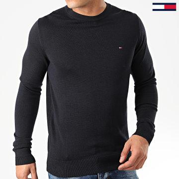 Tommy Hilfiger - Pull Core Cotton-Silk 4978 Bleu Marine