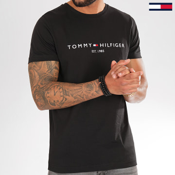 Tee Shirt Core Tommy Logo 1465 Noir