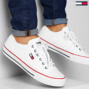 Baskets Leather City Sneakers 0394 White