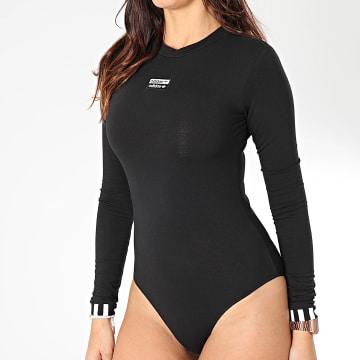 Body Tee Shirt Manches Longues Femme ED7455 Noir Blanc